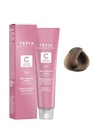 Крем-краска для волос с маслом монои 7.00 блондин интенсивный 60 мл COLOR CREATS Tefia