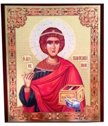 Плакат икона Св. Пантелеимон