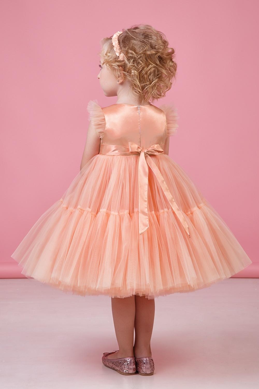Платье абрикосовое для девочки 38-9002-7