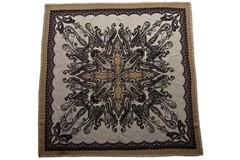Шерстяной женский коричневый платок (0078 PLATOK 8)