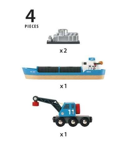 BRIO Набор с кораблём и краном погрузчиком