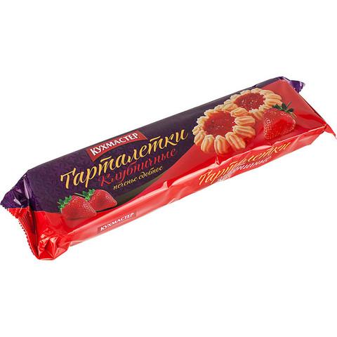 Печенье сдобное Кухмастер Тарталетки клубничные 240 г