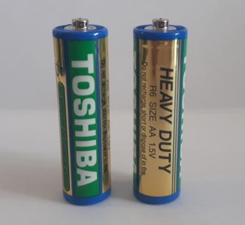 Батарейки Toshiba R6 синяя, AA (4/40/200)
