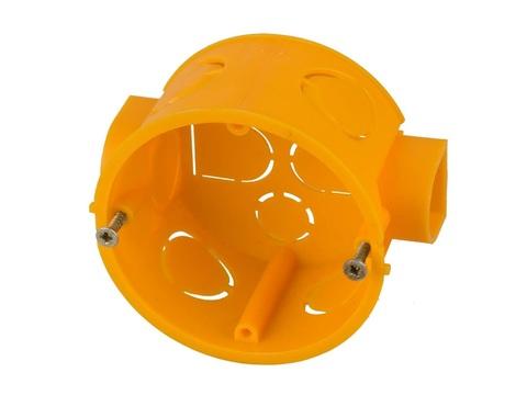 Коробка установочная СВЕТОЗАР для подштукатурного монтажа, макс напряж 400В, межцентр. Расстояние 71мм, 68х40мм, круглая