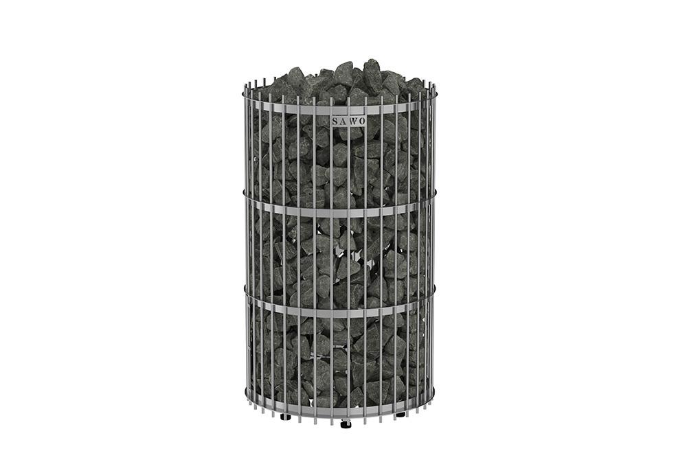 Фото - Серия Orion: Электрическая печь SAWO Orion ORN-120NS-G-P (12 кВт, выносной пульт, нержавейка, напольная) серия taurus электрическая печь sawo taurus tau 180ns g p 18 квт выносной пульт
