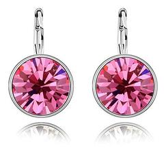 Swarovski Crystall Zoetzl Sırğa - Pink