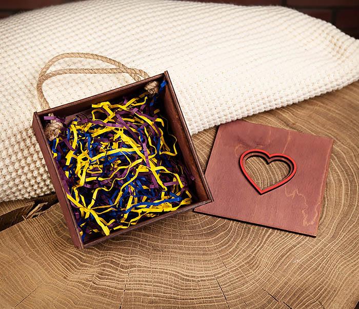 BOX210-3 Подарочная коробка с ручками фиолетового цвета (17*17*10 см) фото 06