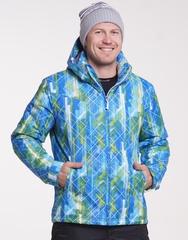 Утеплённая прогулочная лыжная куртка Nordski City Blue-Lime-Black  мужская