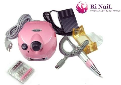 Аппарат для маникюра и педикюра nail drill 25000, розовый