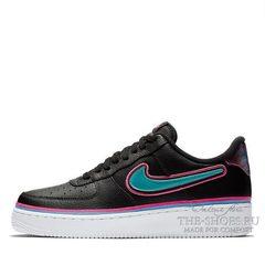 Кроссовки мужские Nike Air Force 1'07 LV8 Black Pink Blue