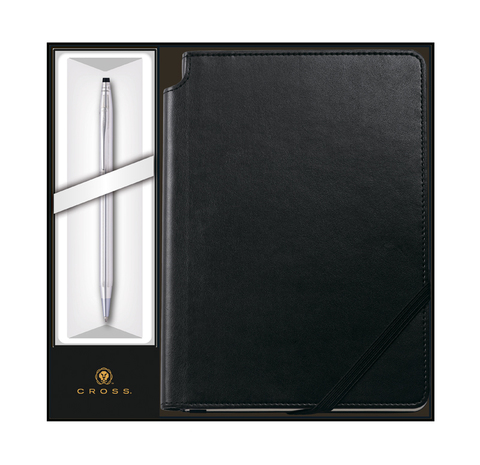 Набор подарочный Cross Classic Century - Chrome, шариковая ручка + записная книжка