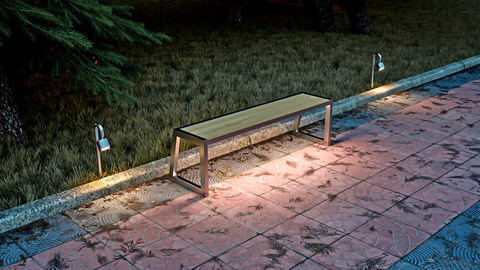 Bench ALLEY with lights