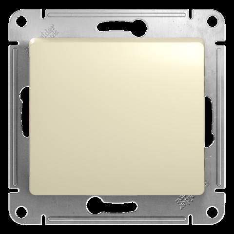 Кнопочный выключатель, 10АХ. Цвет Бежевый. Schneider Electric Glossa. GSL000215