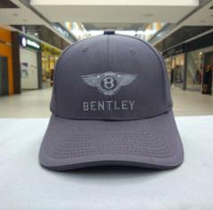 Кепка с вышитым логотипом Бентли (Бейсболка Bentley) серая