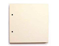 Картон пивной, основа для альбома, 1,5 мм, 20*20 см с двумя отверстиями, 1 лист.