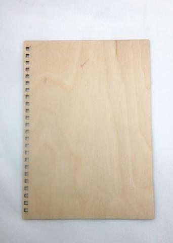 055-9795 Деревянная обложка для блокнота