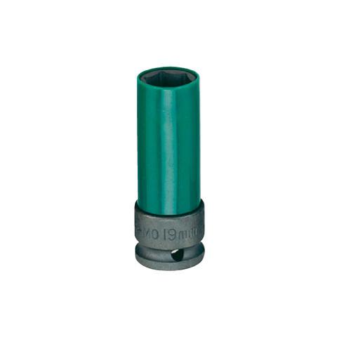 Головка ударная колесная 19 мм, в пластиковой защите, HONITON ISK-4019