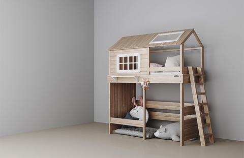 Кровать Домик-чердак для мальчика