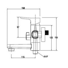 Смеситель KAISER Vega 63022 для ванны схема