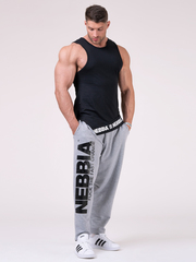 Штаны NEBBIA Beast Mode On iconic sweatpants 186 GREY