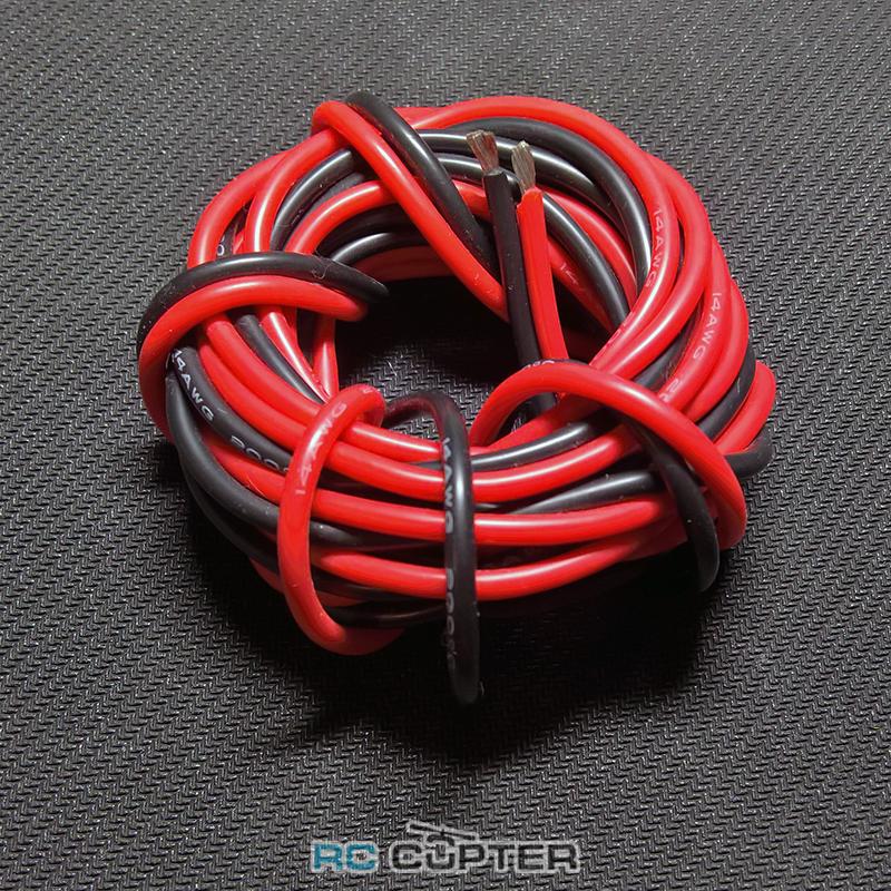 Медный провод 24AWG (1м красного + 1м чёрного) в силиконовой изоляции 2 метра