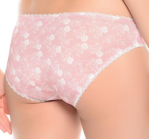 Трусики-слипы цвет розовый/белый