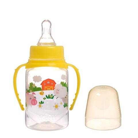 Mum&Baby Бутылочка с ручками Весёлая ферма 150 мл с рождения