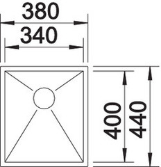 Мойка Blanco Zerox 340-U схема