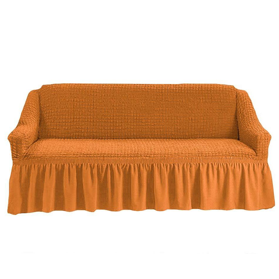 Чехол на четырехместный диван, рыжий