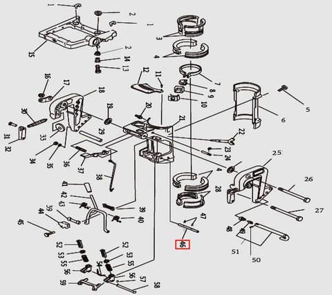 Вал блокировки з/х для лодочного мотора T9.8 Sea-PRO (11-46)