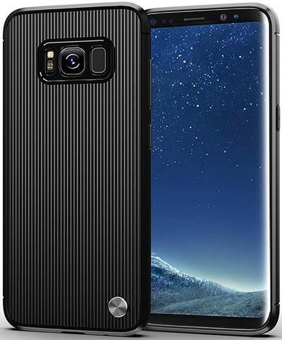 Чехол Samsung Galaxy S8 Plus цвет Black (черный), серия Bevel, Caseport