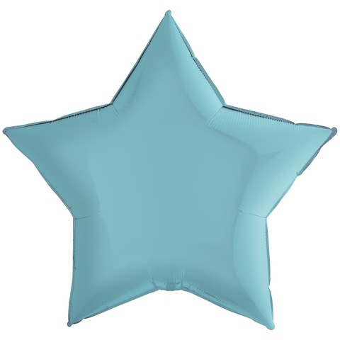 Воздушный шар звезда большая, Голубой, 91 см