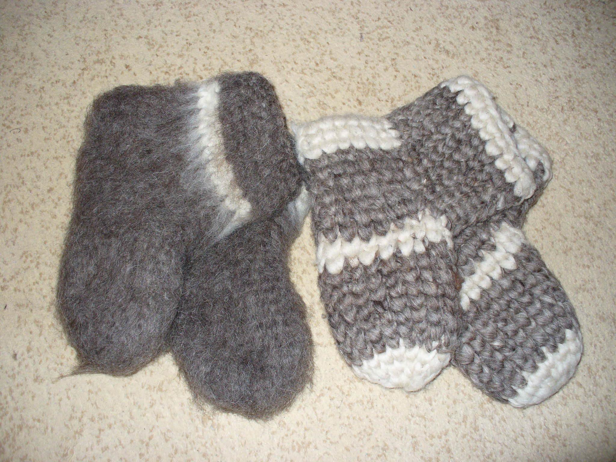 Носки - валенки шерстяные детские