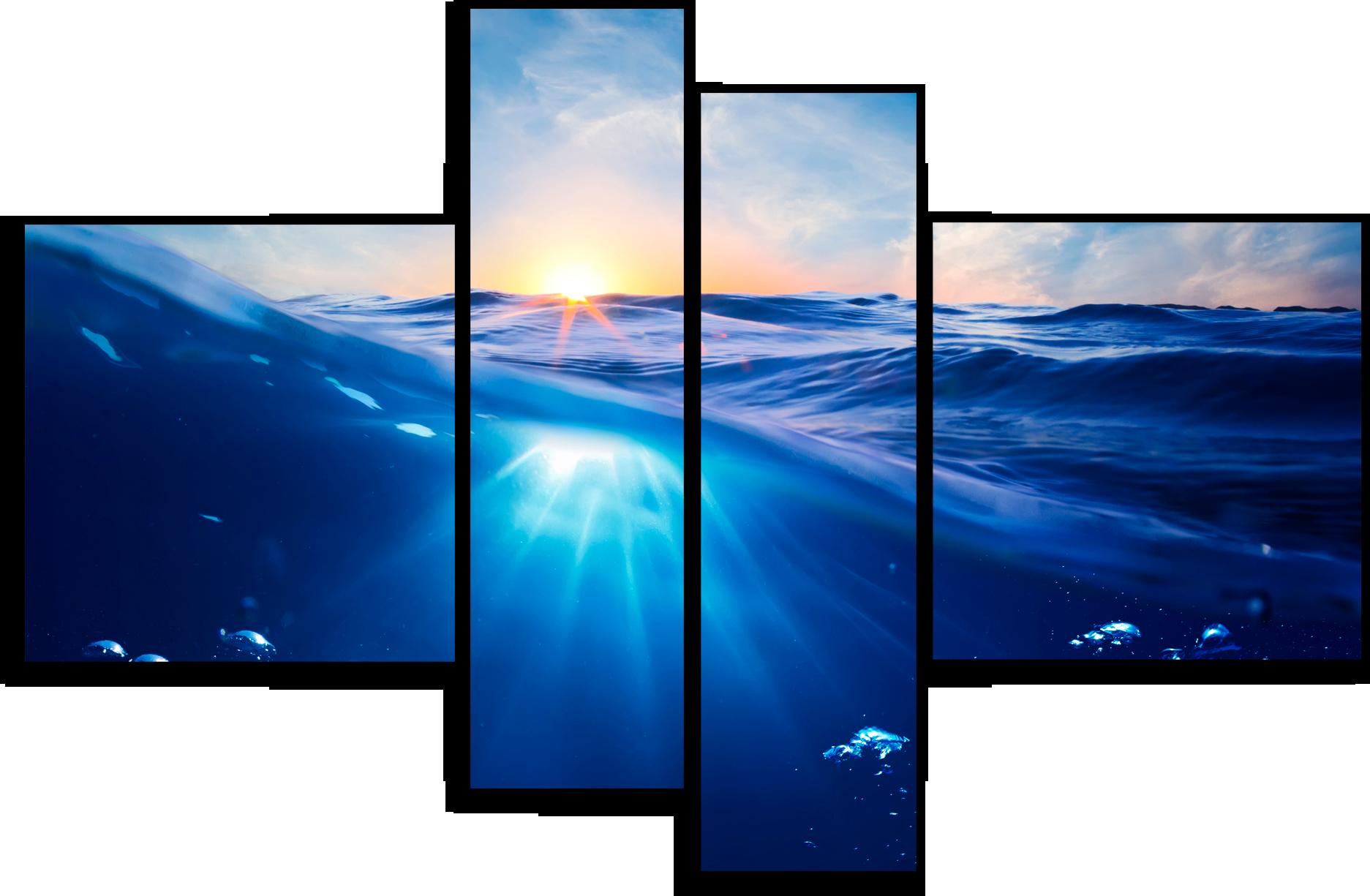 """Модульные картины Модульная картина """"Голубая лагуна"""" М150.png"""