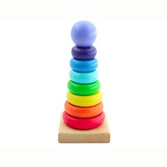 Игрушки из дерева Пирамида