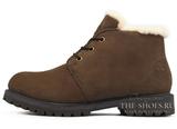 Ботинки Мужские Timberland Nellie Chukka Brown с Мехом