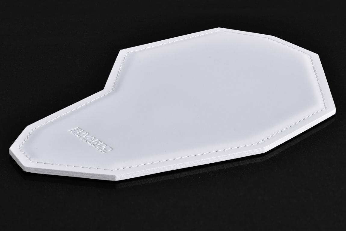 белый кожаный коврик для мыши buvardo ламбо
