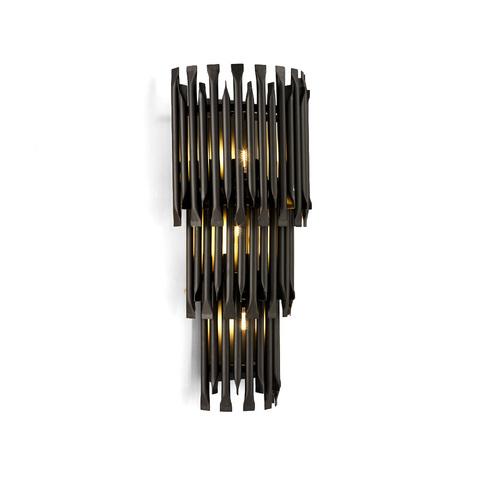 Настенный светильник копия Matheny by Delightfull (3 уровня, черный)