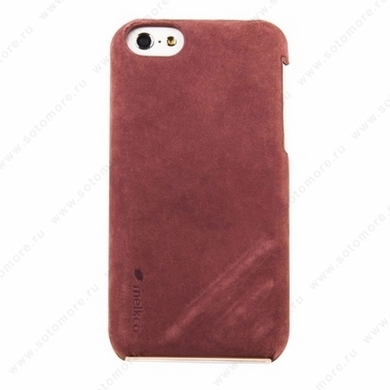 Накладка Melkco кожаная для iPhone 5C Leather Snap Cover Craft Limited Edition Prime Dotta (Classic Vintage Purple)