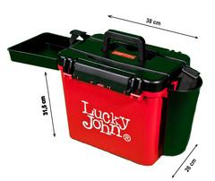 Ящик рыболовный зимний LUCKY JOHN (из 6-ти частей) 38x26x31,5 см