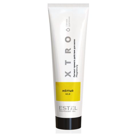 Пигмент прямого действия  для волос XTRO Estel  желтый, 100 мл.