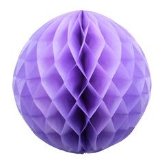 Бумажное украшение шар 20 см светло-сиреневый