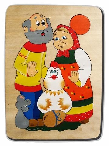 Мозаика-вкладыш Курочка Ряба, Крона, арт. 143-018