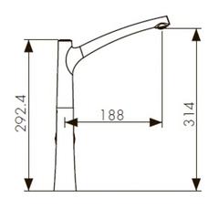Смеситель KAISER Stick 49144 для кухни схема