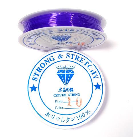 Спандекс - силиконовая нить 1,0 мм сиреневый