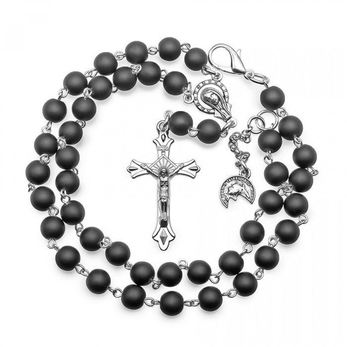 Мужские бусы розарий с крестом Hoger HG002198