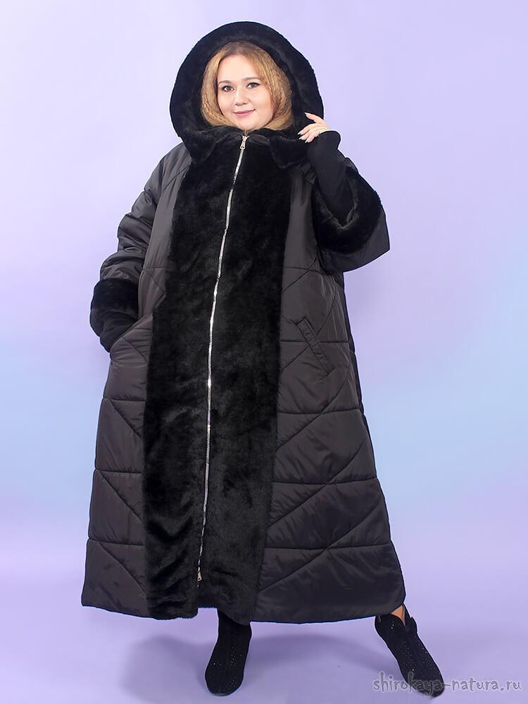 Зимнее пальто Тайра чёрный
