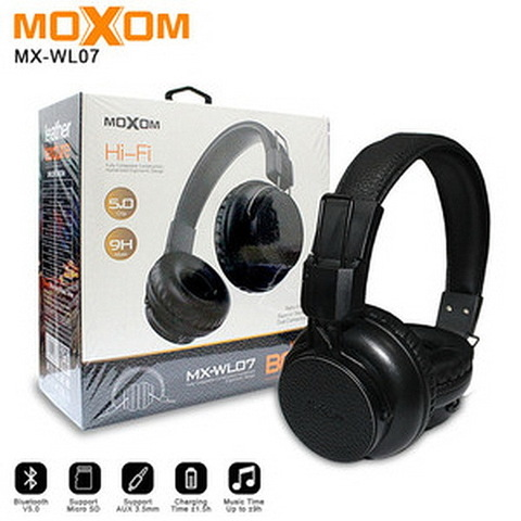 Наушники Bluetooth Moxom MX-WL07, BT 5.0, 9H, black