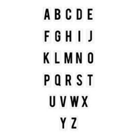 Сменный пластиковый алфавит Mini Alphabet/Black On White для светильника Lightbox   -   Heidi Swapp