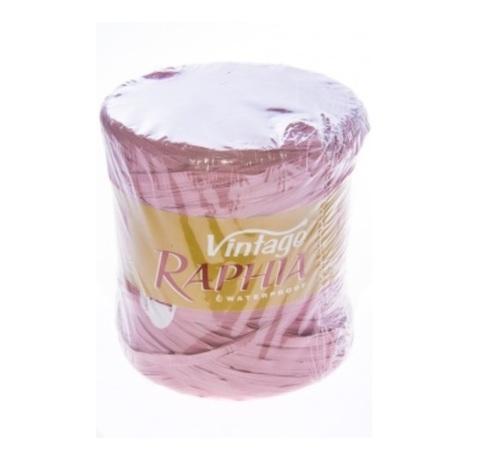 Рафия искусственная Винтаж 200 м Цвет: пастельный розовый